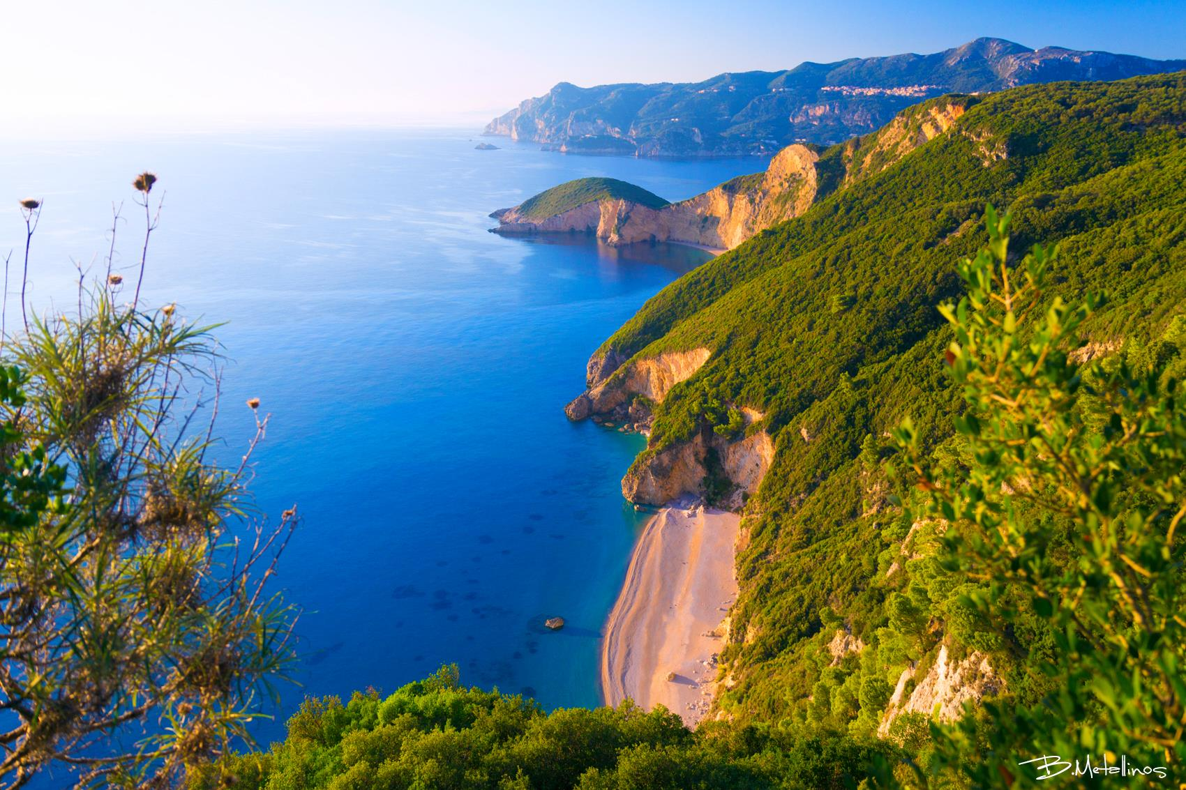 stelari beach and chomoi beach paleokastritsa liapades